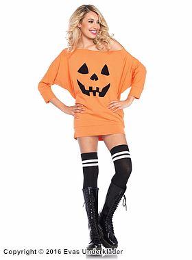 Halloween-klänning, pumpa